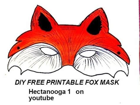 printable mask of a fox free printable fox mask 183 how to draw paint a piece of