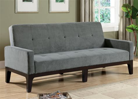 Gray Futon by Delaney Collection 300229 Blue Gray Futon