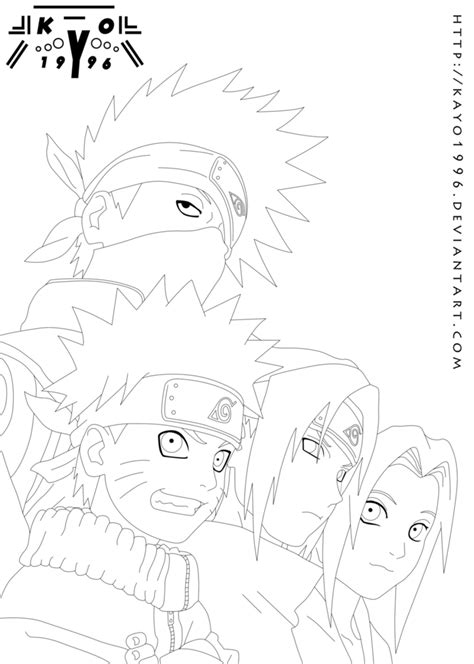 Team 7 Coloring Pages by Lines Team Seven By Ikashos On Deviantart