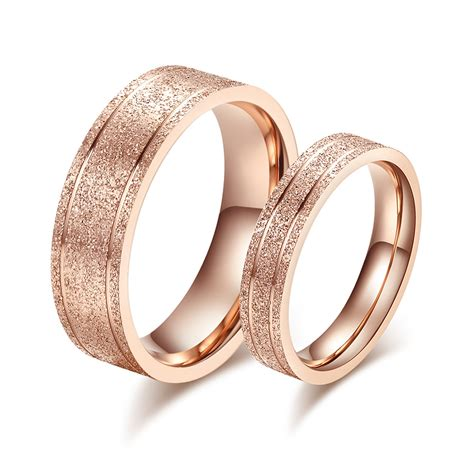2015 fashion jewelry pink frosted gold stainless