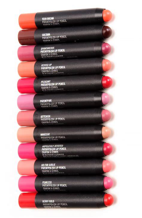 mac test pattern lip liner sneak peek mac patentpolish lip pencils photos swatches