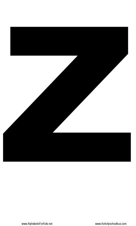 printing letter z large letter z printable for teaching preschool children