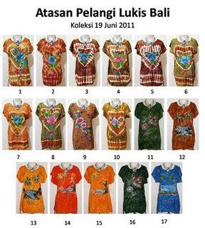 Bali Dress Daster 7 baju modern atasan pelangi kulis bali