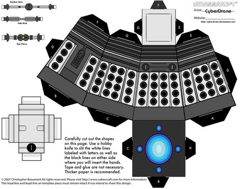 Dalek Papercraft - dr theda s crypt create your own dalek