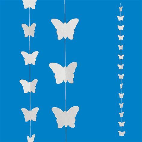 cadenas en papel deco cadena de papel mariposas 230 cm 5 piezas
