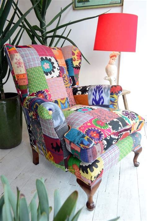 Patchwork Wing Chair - best 25 patchwork chair ideas on colorful