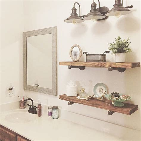 industrial floating shelves set of 3 bathroom shelves