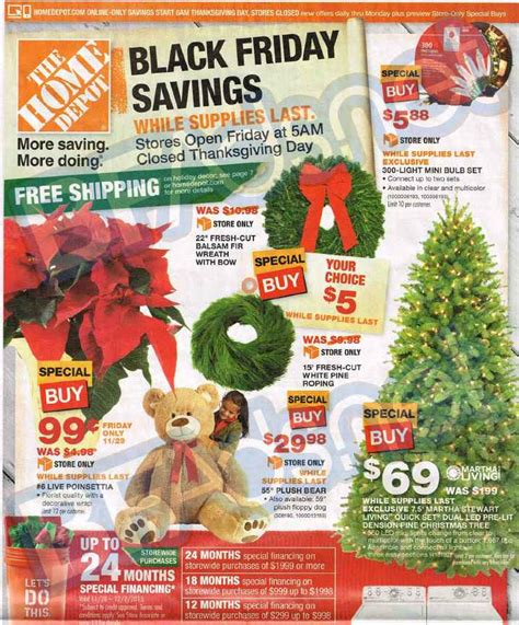 home depot black friday ad 2015 deals store hours ad