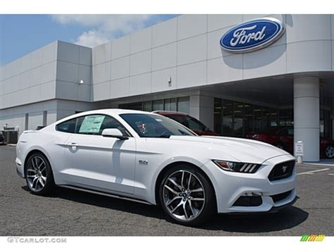 white mustang 2016 oxford white ford mustang gt premium coupe 113420152