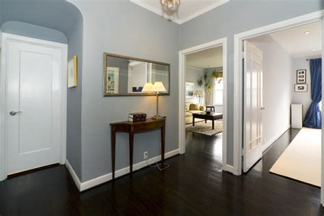 paint colors for living room with dark floors stunning dark wood floor foyer with my favorite blue paint