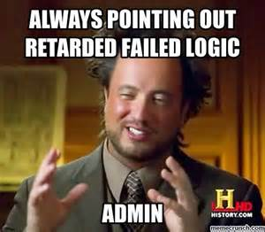 Pointing Meme - always pointing out retarded failed logic