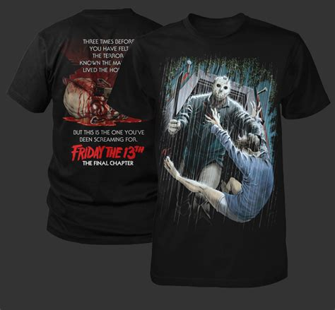 Tshirt Logo Chap Edition Cl new limited edition friday the 13th shirts from fright