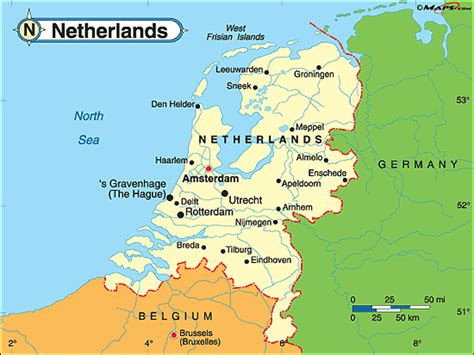 Holland World Map by Netherlands Political Map By Maps Com From Maps Com