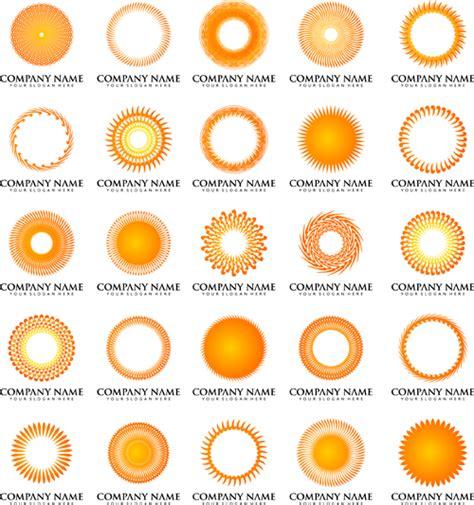 company sun sun with company logos vector design vector logo free