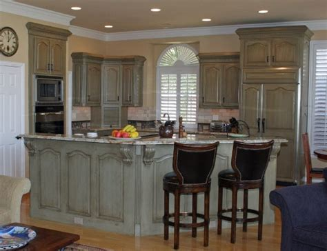 Kitchen Cabinet Painting Before And After by Kitchen Cabinets Before Amp After Traditional Kitchen