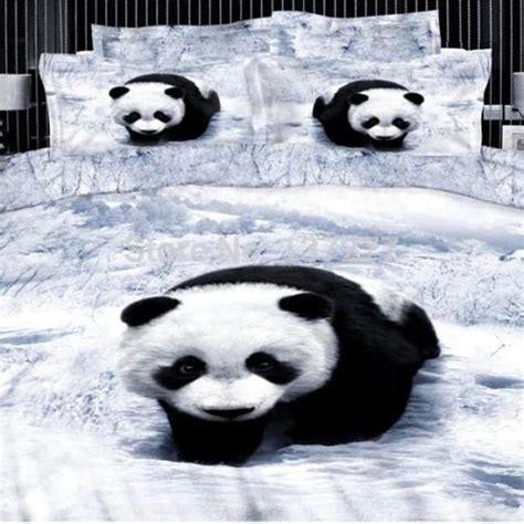 panda bed wonderland cute 3d panda bedding set reactive print 4pcs