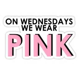 Football Stickers For Walls quot on wednesdays we wear pink pink text mean girls quote