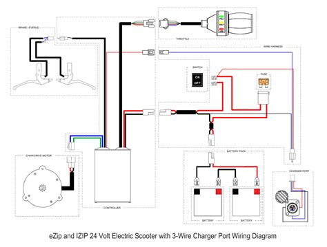 electric scooter battery wiring diagram wiring diagram