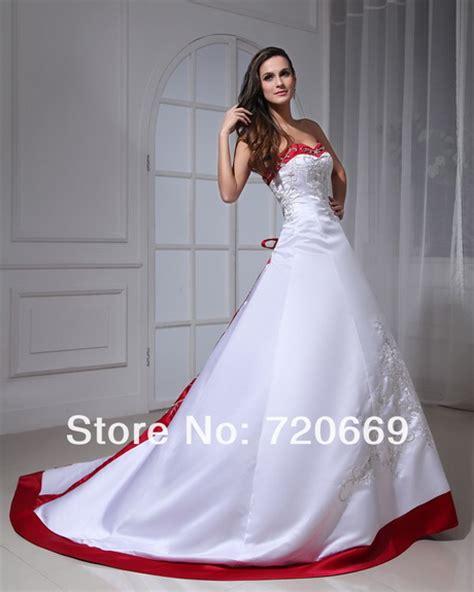 imagenes de vestidos de novia con detalles rojos vestidos de novia blanco con rojo