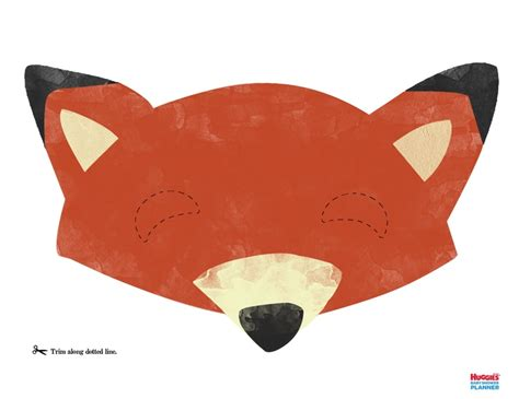 printable mask of a fox fox mask printable bring out your wild side by creating a