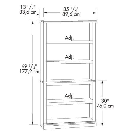 Book Shelf Dimensions by 5 Shelf Bookcase Smart Furniture