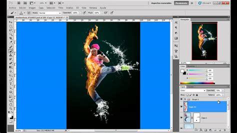 tutorial photoshop cs5 efecto de fotografía entretejida efecto fuego y agua photoshop cs5 youtube