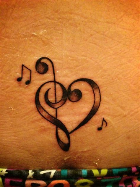 treble clef tattoo the detail treble bass clef