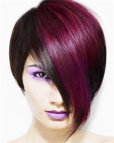 exles of funky high lights for short hair hairstyles with red highlights short edgy hairstyles