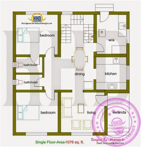 450 k floor plans small budget house plan kerala home design and floor plans