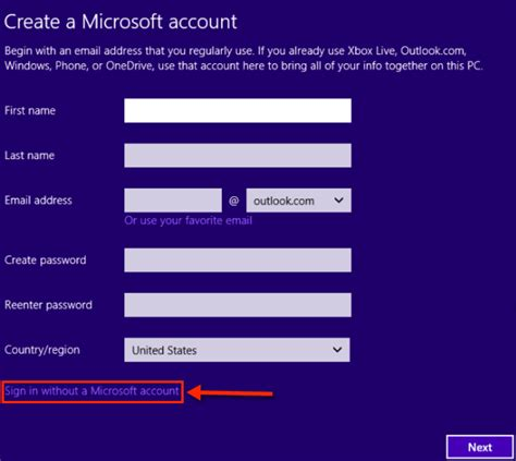 install windows 10 without microsoft account windows 10 installation without microoft account