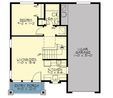 tandem garage plans cozy craftsman bungalow with tandem garage 23504jd 1st