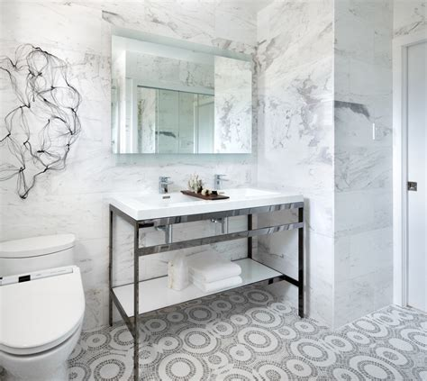 Modern Bathroom Floor Tile Mosaic Floor Tile Patterns Bathroom Contemporary With Aqua Bath Accessories Candles
