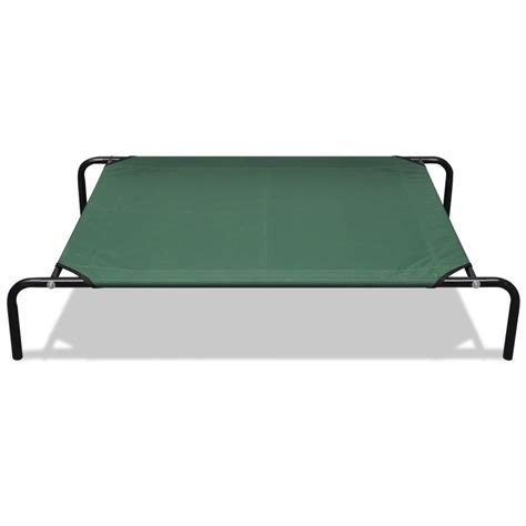 elevated cat bed vidaxl co uk elevated pet bed with steel frame 130 x 80 cm