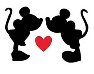 kiss mickey and minnie decal etsy