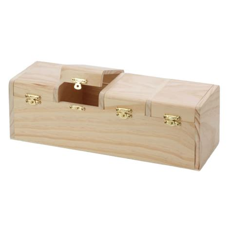 Desk Organizer Box Unfinished Wood Storage Box 6 Drawer Desk Organizer
