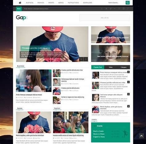 gaps magazine blogger template 187 abtemplates com