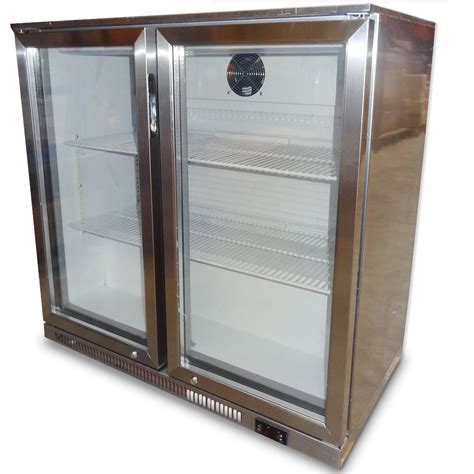 under bench bar fridges fully stainless steel 2 door under bench bar beer fridge