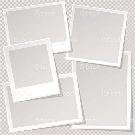 picture template photo frame template with sharp transparent shadow stock