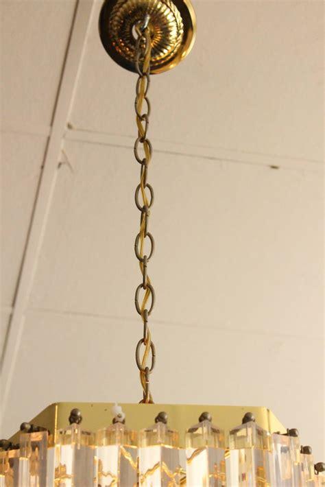 Chandelier Drop Large Drop Loop Lucite Chandelier At 1stdibs