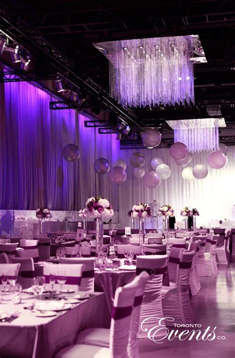 Purple Contemporary Wedding by Toronto Events Co