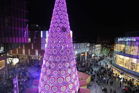 uk s tallest christmas tree lights up liverpool one