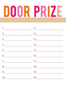 detail oriented door prize printable jazzed