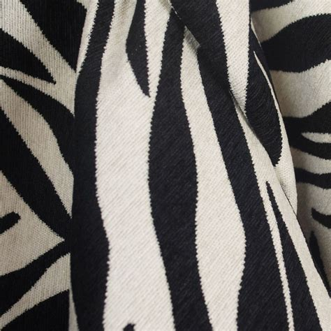 black and white upholstery fabric black white zebra tiger upholstery fabric ebay