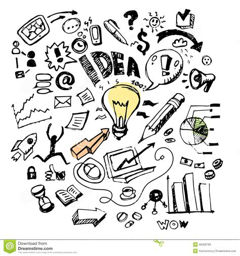 ideas of doodle business doodles idea stock illustration image 49328799