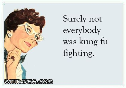 Everybody Was Kung Fu Fighting by Surely Not Everybody Was Kung Fu Fighting Wititudes