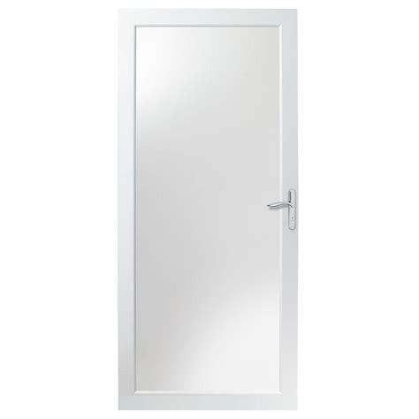 Andersen 4000 Door by Andersen 36 In X 80 In 4000 Series White Universal Fullview Aluminum Door With Nickel