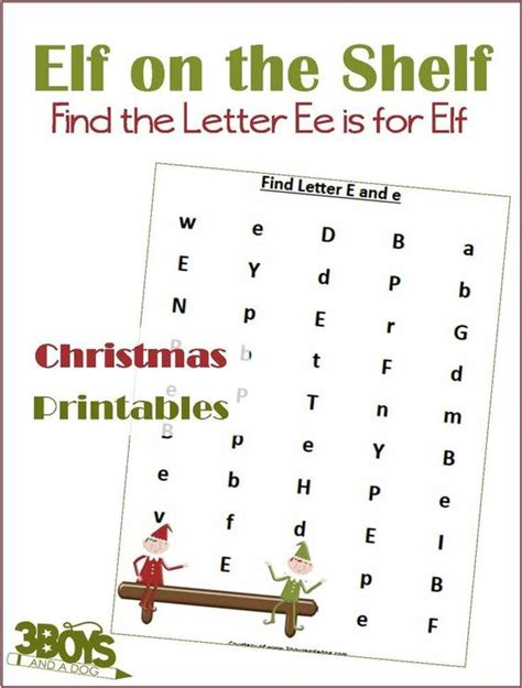 find the letter e is for printable worksheets