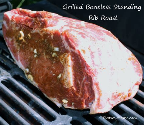 grilled boneless standing rib roast recipes food and cooking