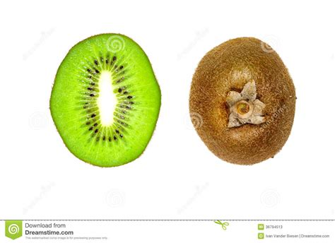 3 fruits with seeds on outside slice kiwi and brown peel stock photos image 36794513