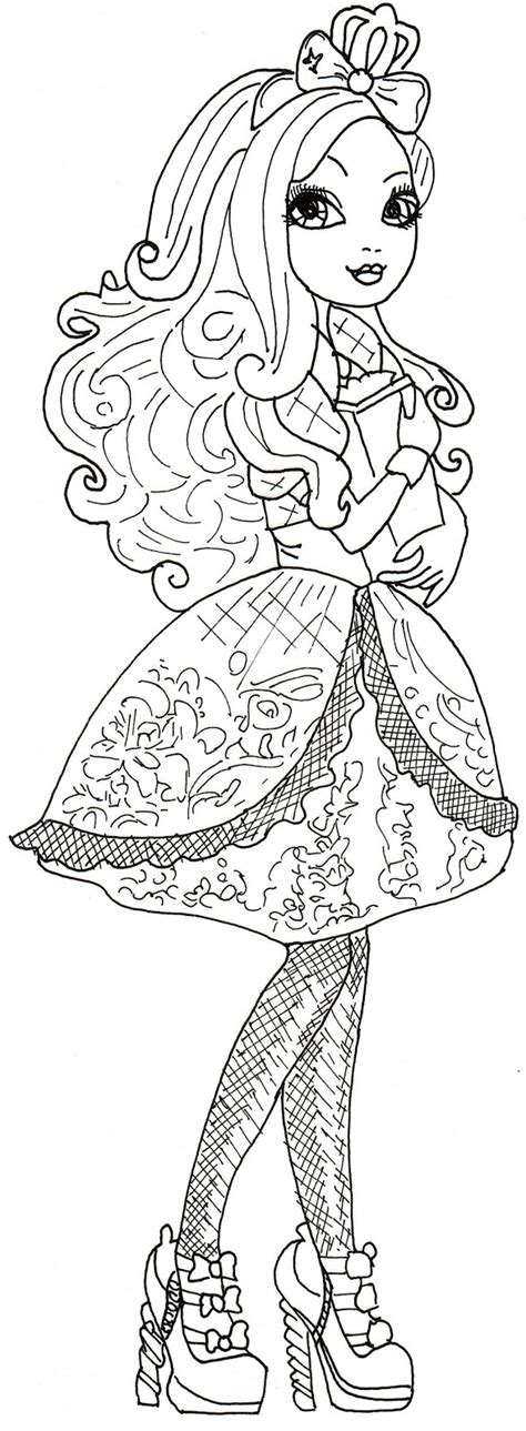 Apple White Coloring Pages all about after high dolls june 2013